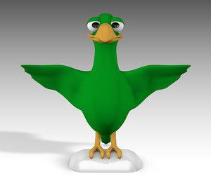 parrot cartoon 3D model