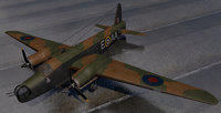 3D plane vickers wellington mk-1c