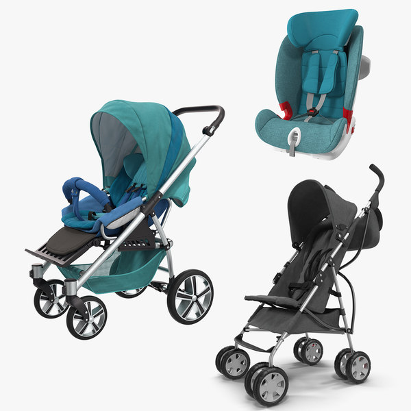 baby carriages car seat 3D model