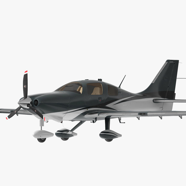 3D 4 seater private plane interior