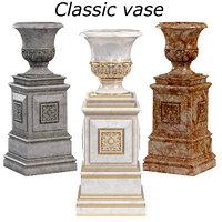 3D classic vase