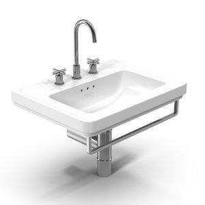 3D sink white model