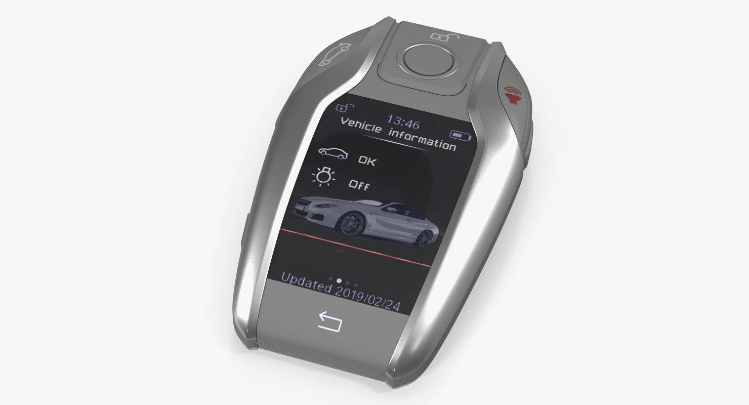 car smart key generic 3D model