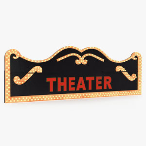 3D decorative theater sign