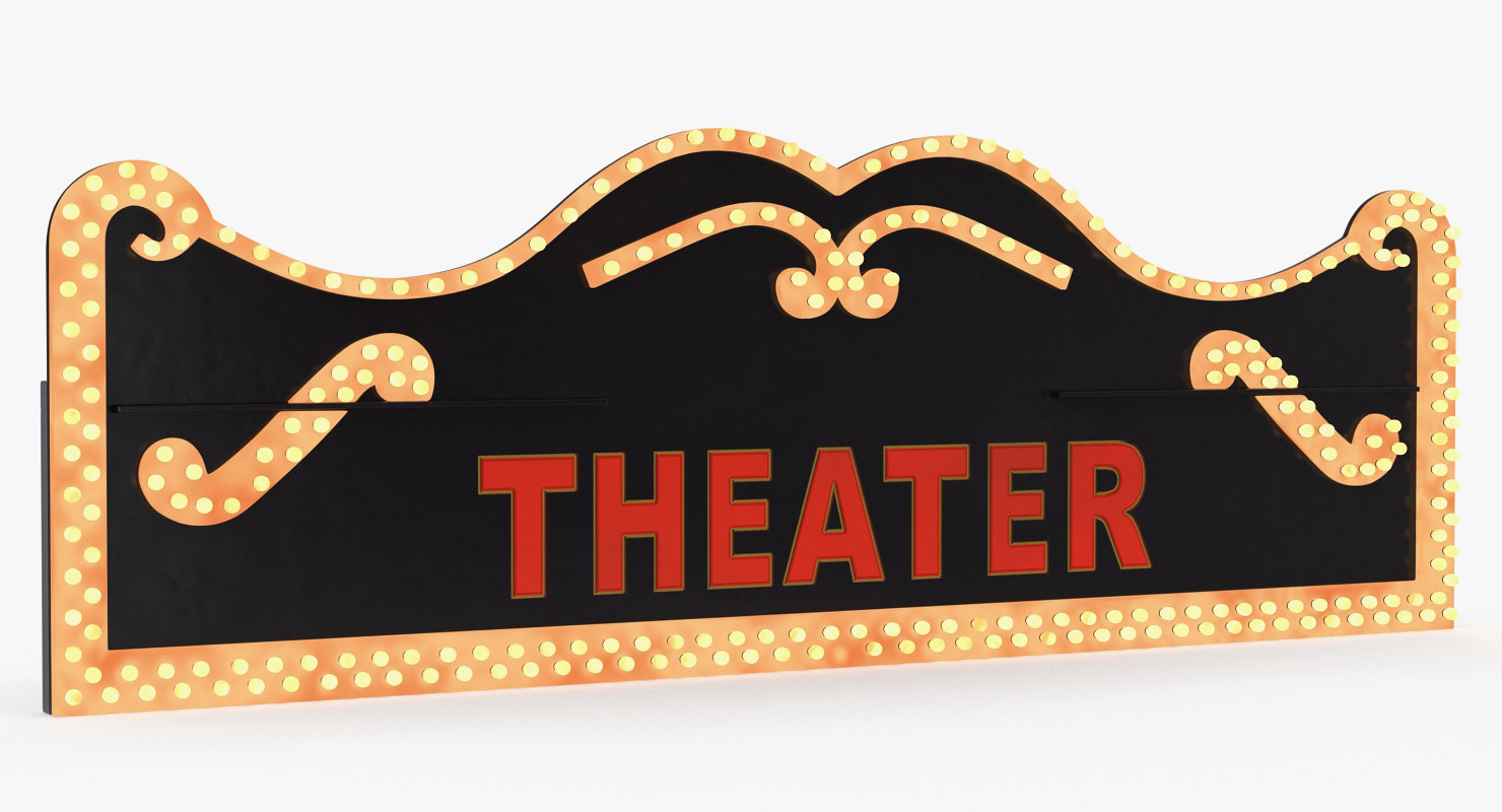 3D decorative theater sign