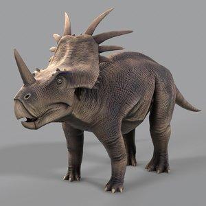 styracosaurus dinosaur games 3D model