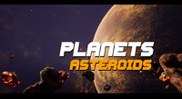 Asteroids Planets - unreal 4