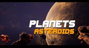 asteroids planet - 4 3D