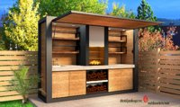 3D modern outdoor kitchen furniture model