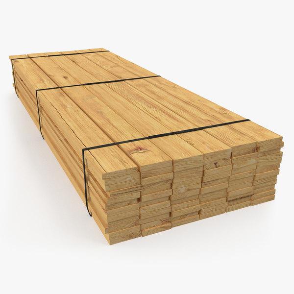 3D industrial lumber package model