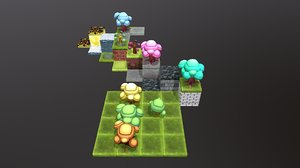stylised toon pack 3D model