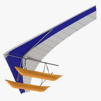 3D hang glider inflatable pontoon model