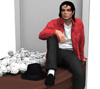 figurine michael jackson ready 3D
