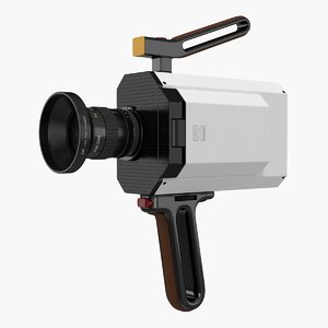 kodak super 8 movie camera 3D model
