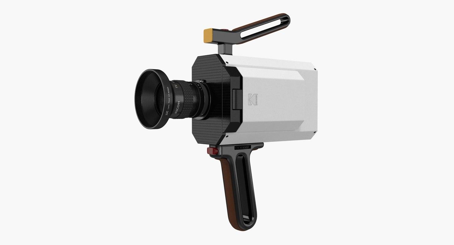 kodak super 8 movie camera 3D model
