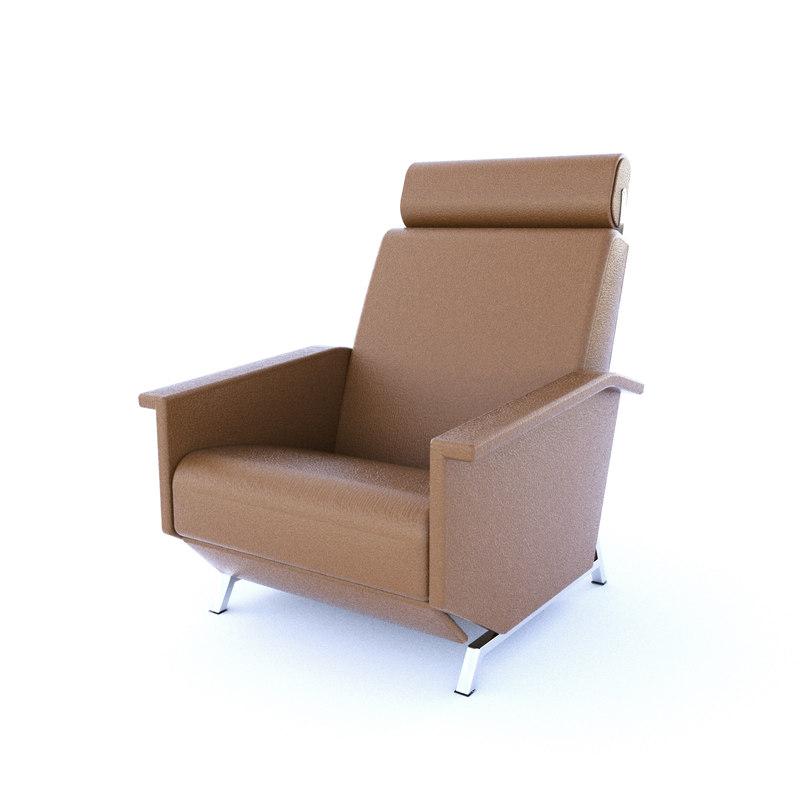 vintage lounge chair georges 3D