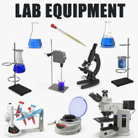 Lab Equipment 3D Models Collection