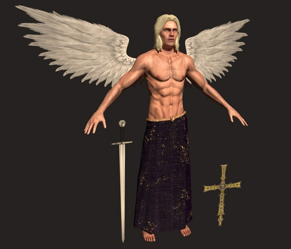 angel archangel michael 3D model