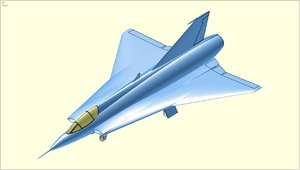 3D saab fighter aircraft solid
