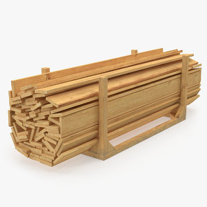 3D lumber boards storage