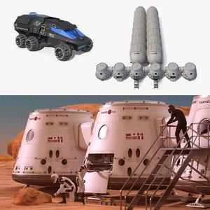 mars colony model