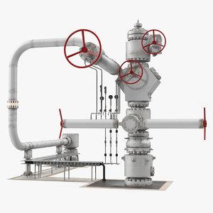 oil wellhead 2 3D
