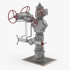 3D oil wellhead 3