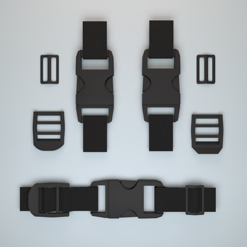 3D set fastener plastic buckle model