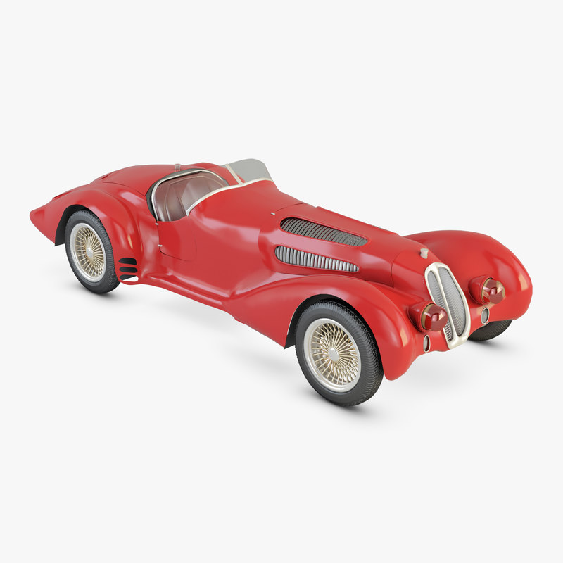 3D alpha romeo 1937 model