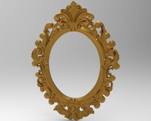 frame baroque oval 3D model
