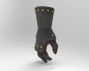gauntlet armor glove 3D model