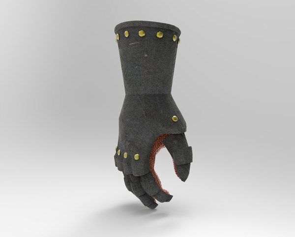 gauntlet armor glove 3D model