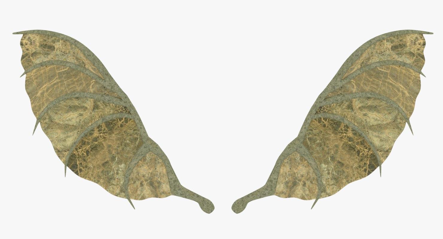3D dragon wings model