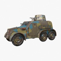 oa vz 30 armoured car 3D