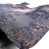 3D snowy canyon model