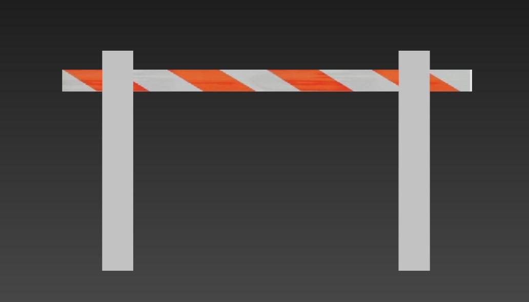 3D construction barricade