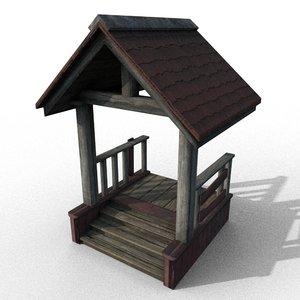 wooden porch 3D model