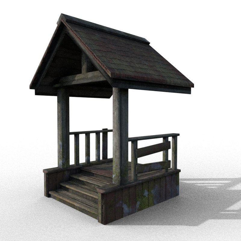 wooden porch 3D model