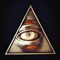3D illuminati print symbol model