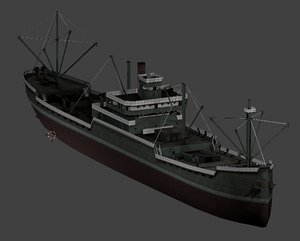 japanese merchant ship 3D