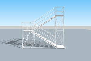 stair scaffold tower - 3D