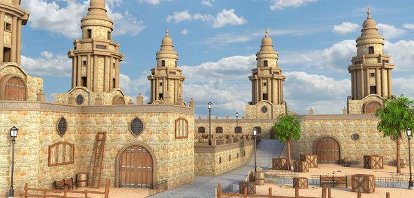 environment arab 3D model