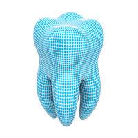 3D model mesh tooth modelled
