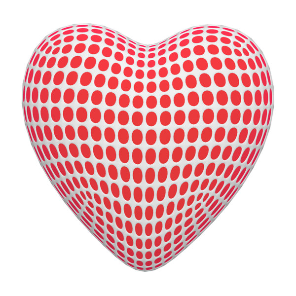 mesh heart modelled 3D model