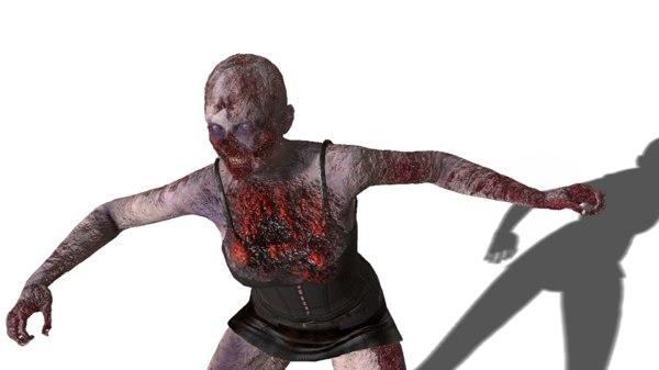 3D zombie brenda model