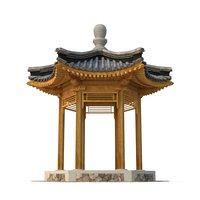 3D qing pavilion corner