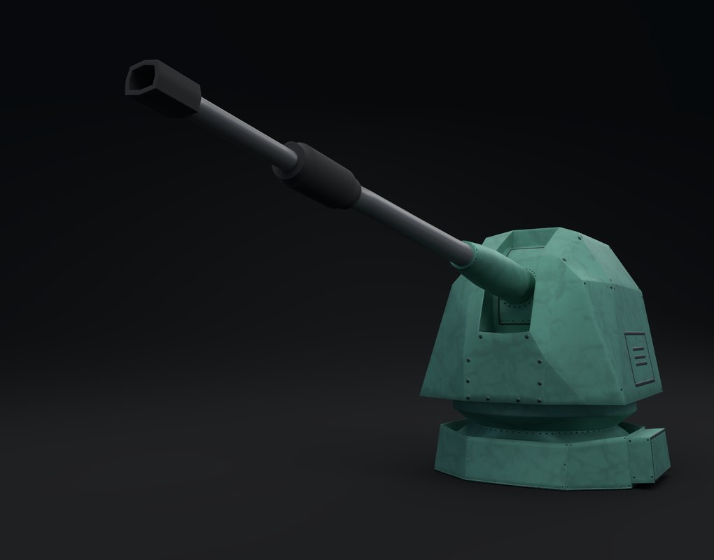 battleship turret 3D model