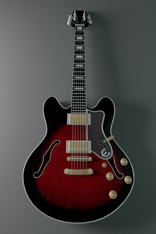 stylish guitar 3D model