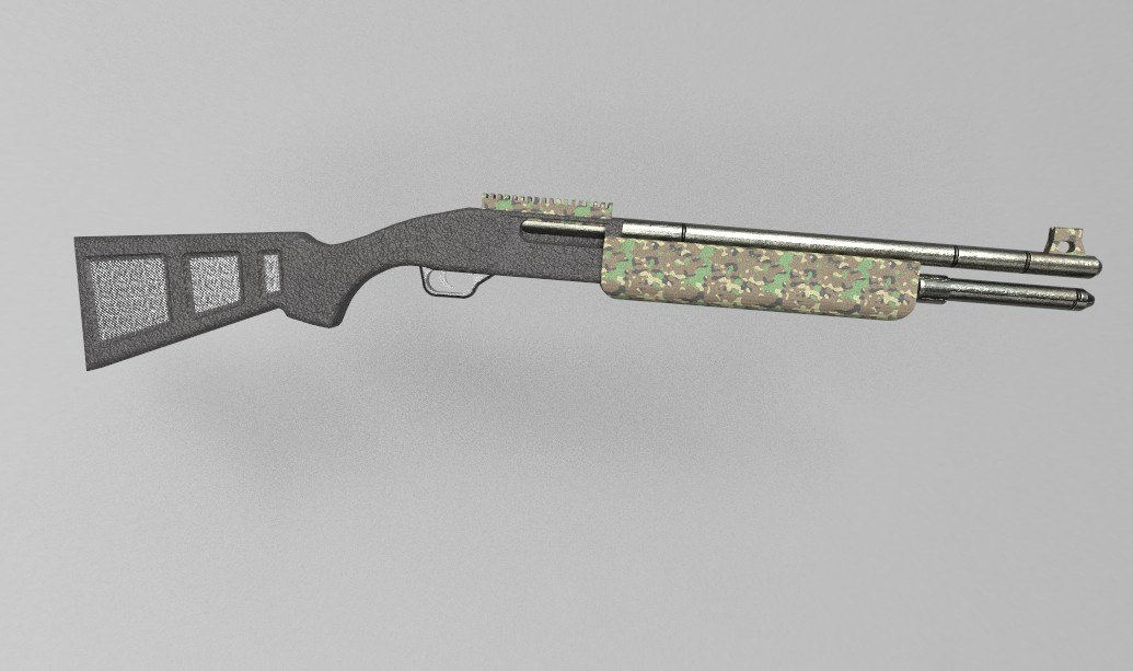 3D modern m1014 shotgun