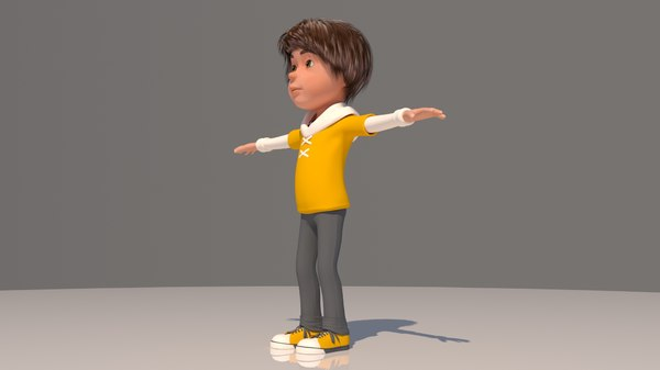 3D boy cartoon